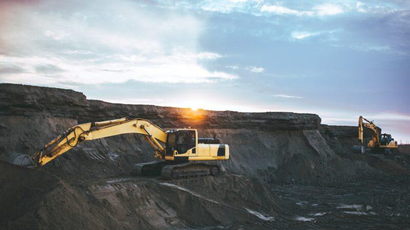 Abbau von Bodenschätzen im Bergbau